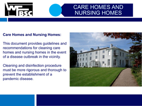 Cleaning Care Homes & Nursing Homes