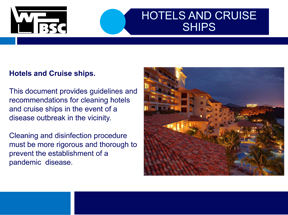 Cleaning Hotels and Cruise Ships