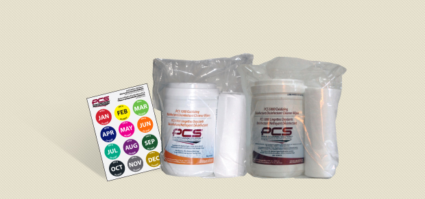 PCS Oxidizing Disinfectant/Disinfectant Cleaner Wipes