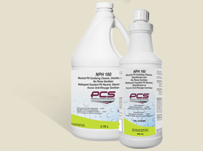 NPH 160 Neutral PH Oxidizing Cleaner, Disinfectant and No Rinse Sanitizer.