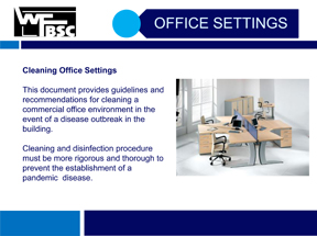 Disinfect Office Buildings